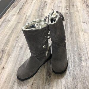 MUK LUKS Womens Size 9 Back Lace Up Tall Boots